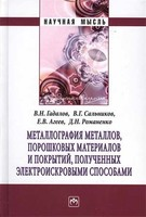 Металлография металлов, порошковых материалов и покрытий, полученных электроискровыми способами